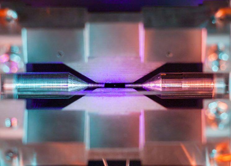 foto de un átomo