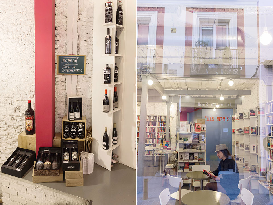 librerias Madrid Tipos Infames vino