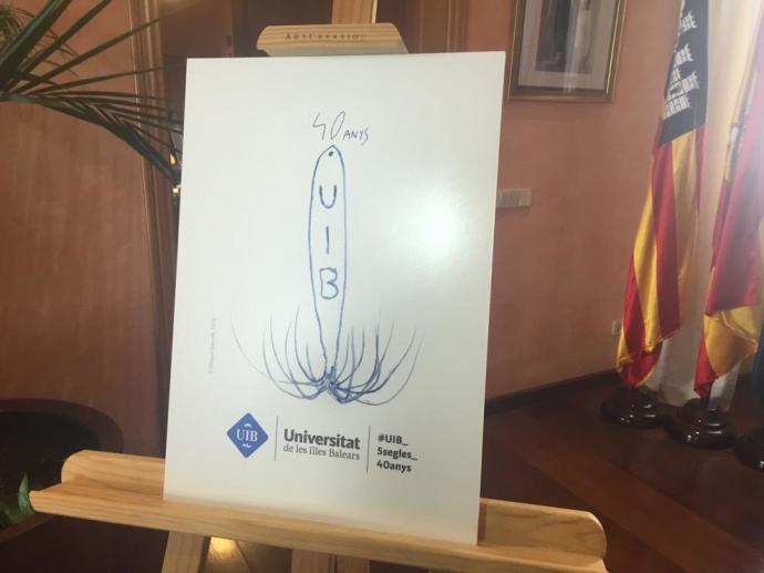 Logo de Miquel Barceló para la Universitat de les Illes Balears