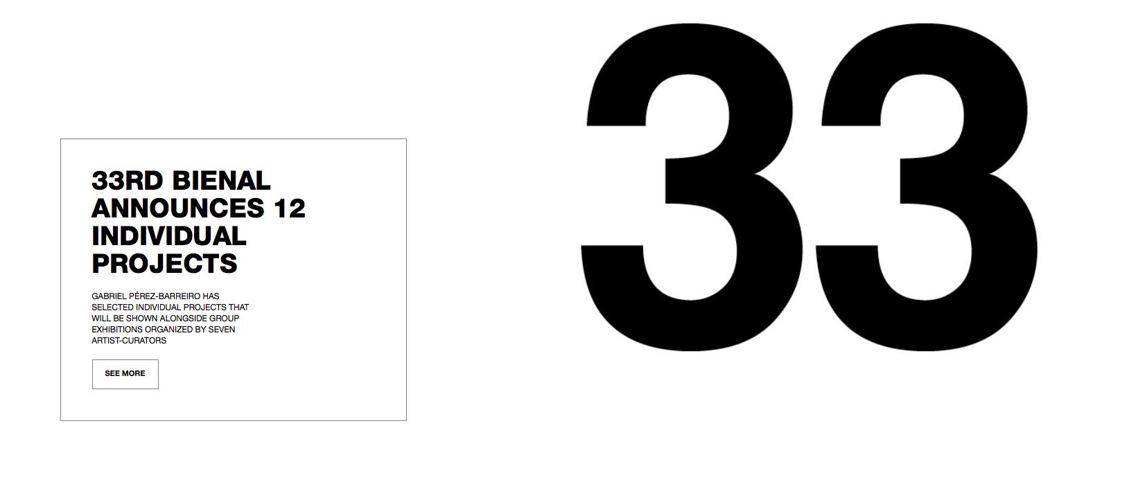 La 33 edicion de la Bienal de São Paulo