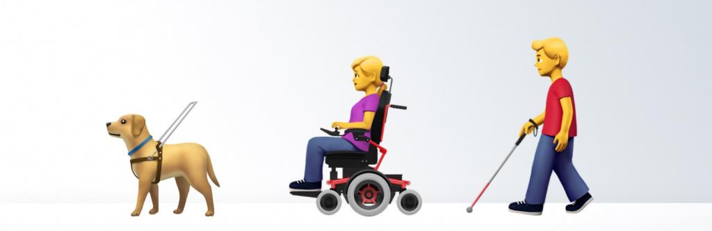 Emojis de Apple para representar a las personas con discapacidad