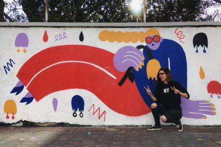 De Hong Kong a Barcelona, la ilustradora Emily Eldridge se convirtió en artista urbana