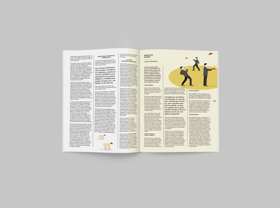 revista graffica 8 llamada proyectos mockup segunda pag1