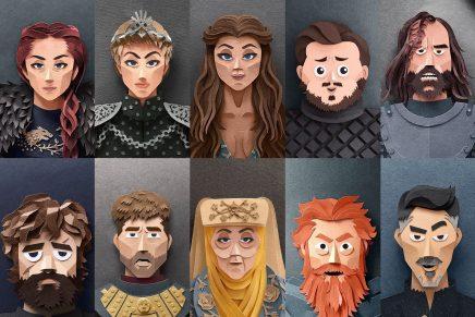 ¿Cómo serían los personajes de 'Juego de Tronos' en paper art? Robbin Gregorio nos lo muestra