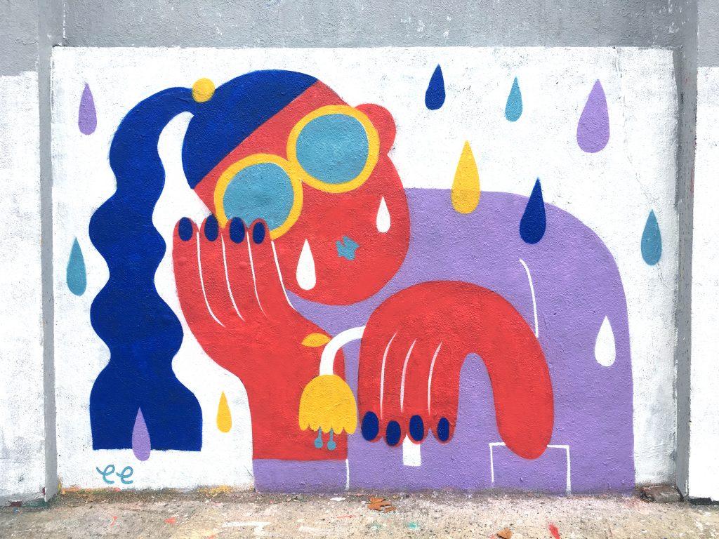 De Hong Kong a Barcelona, la ilustradora Emily Eldridge se convirtió en artista urbana - 1