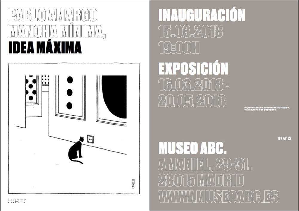 Cartel exposicion Pablo Amargo