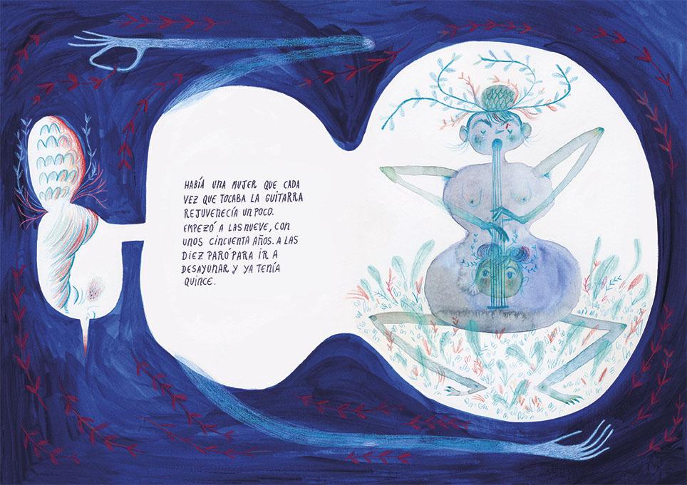 una de las ilustraciones de onironiro, de Ana Sender