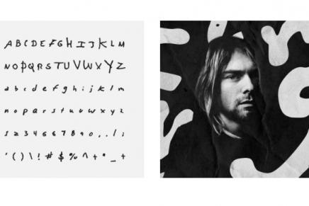 Las tipografías basadas en la letra de Kurt Cobain y otros músicos gratis