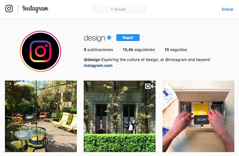 diseño de instagram