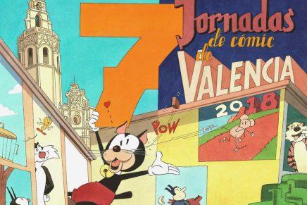 Daniel Torres crea el cartel de las VII Jornadas de Cómic de Valencia inspirándose en los gatos más famosos de los tebeos