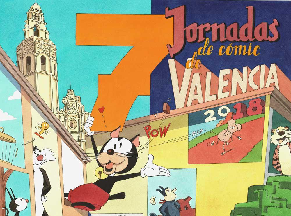 Cartel de Daniel Torres para las VII Jornadas del Cómic de Valencia 3