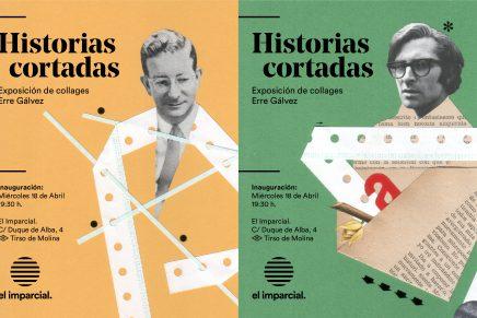 Historias creadas de forma analógica en 'Historias cortadas. Collages de Erre Gálvez'