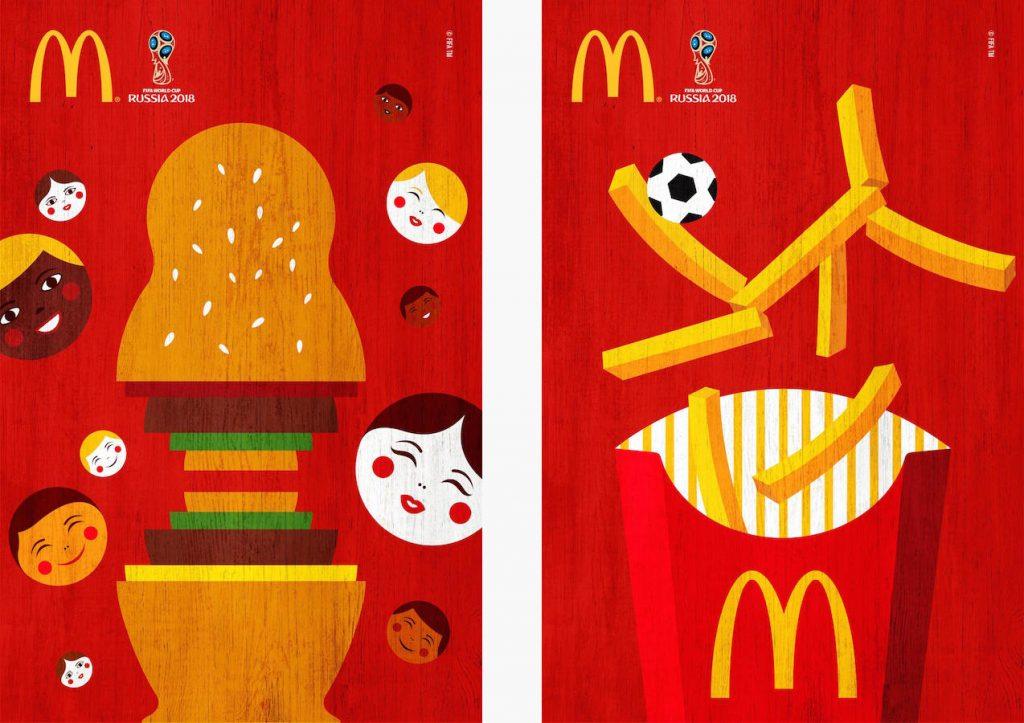 Carteles de McDonald's para la Copa Mundial