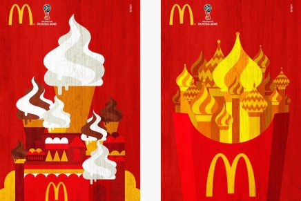 La agencia brasileña DPZ & T diseña varios carteles de McDonald's para la Copa Mundial de FIFA 2018