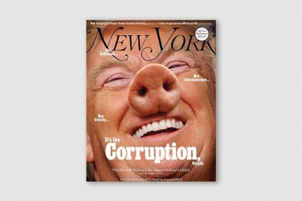 Donald Trump y su nariz de cerdo protagonizan la última portada de la revista New York Magazine