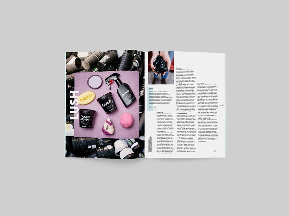 revista graffica 9 packaging Lush entrevista