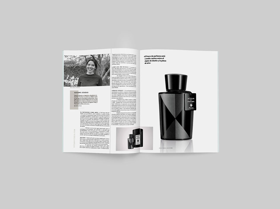 revista graffica 9 packaging Sotano Studio perfume