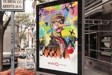 Los artistas de #BeAnartist Series 3 intervienen los mupis de la campaña de Etnia Barcelona