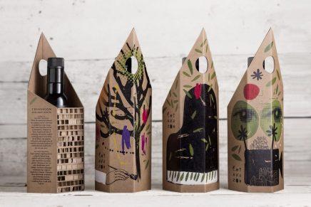 El packaging de aceite de oliva inspirado por arquitectura y arte tradicional de Croacia