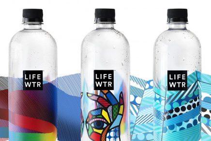 Historia del arte urbano detrás del packaging de agua LIFEWTR