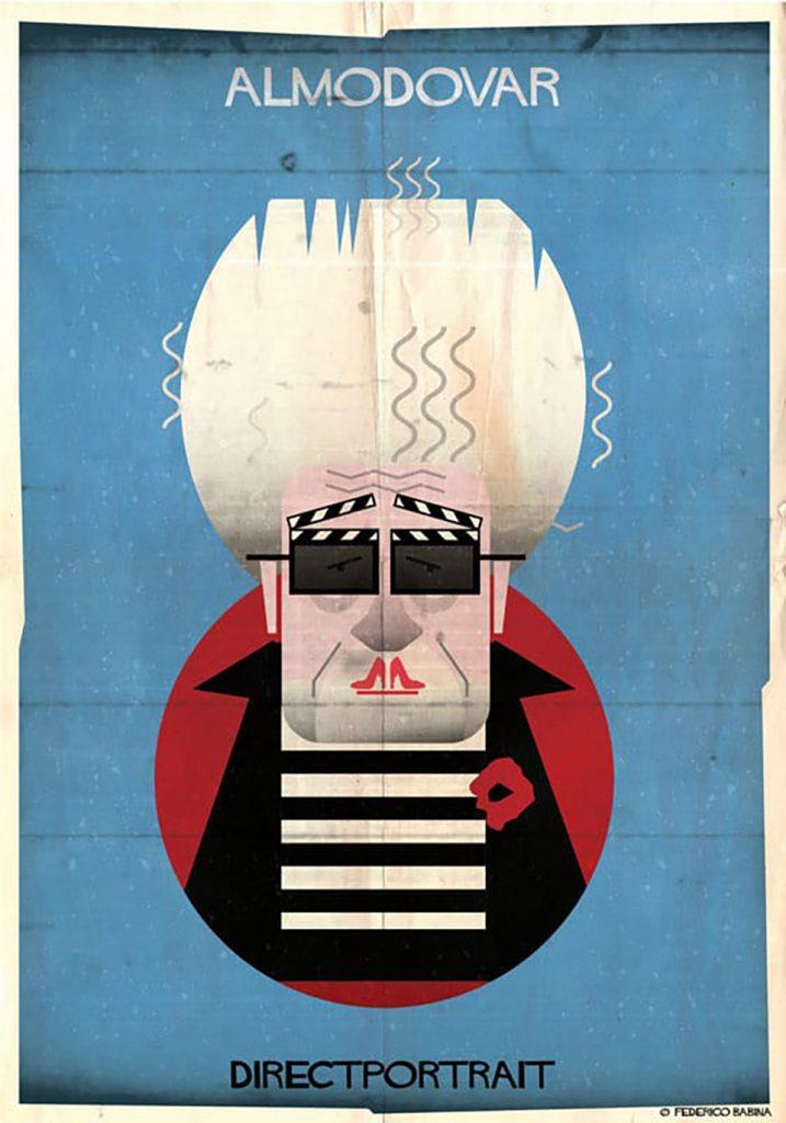 Federico Babina ilustra a los grandes directores de cine con elementos icónicos de sus películas