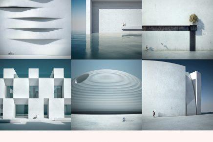 Fotografía y diseño 3D combinados por el artista Michele Durazzi