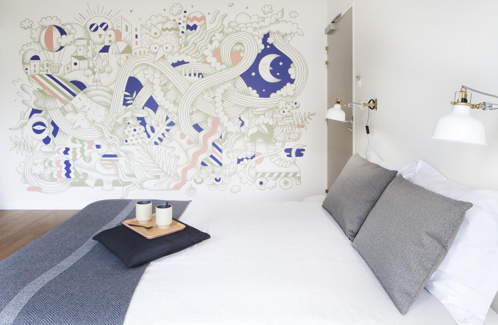 Una habitación en Ronald MacDonald casa.