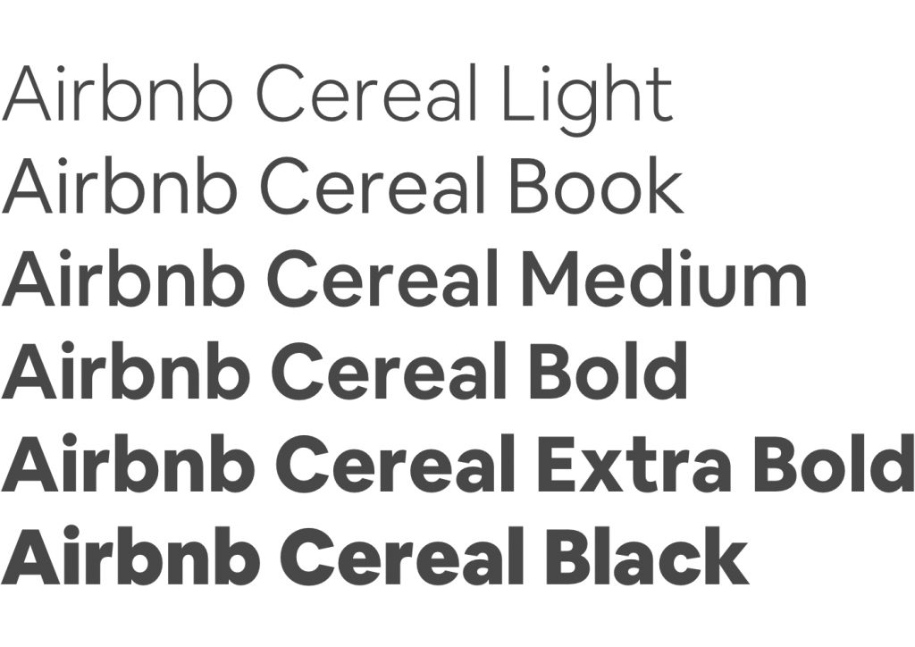 AIRBNB CEREAL FONT 3