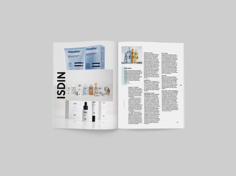 revista graffica 9 isdin mockup revista