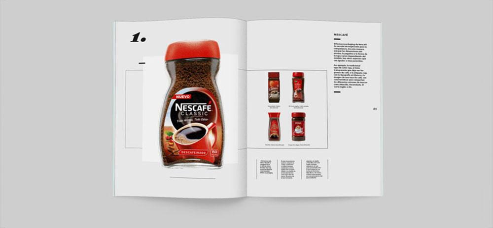 revista graffica 9 marcas parasito nescafe rojo