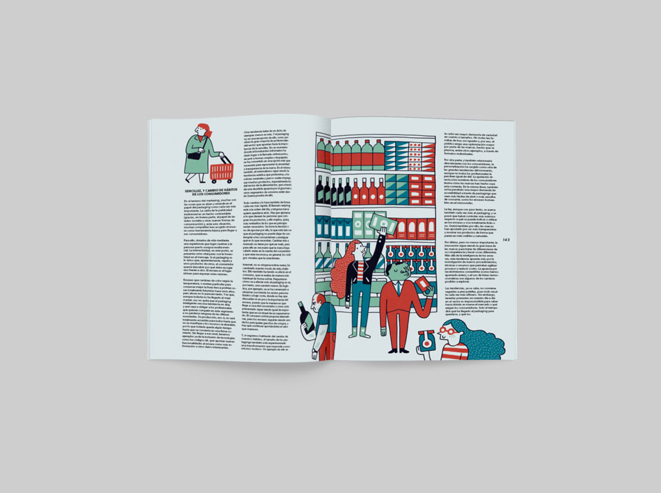 revista graffica 9 report packaging estantes colores