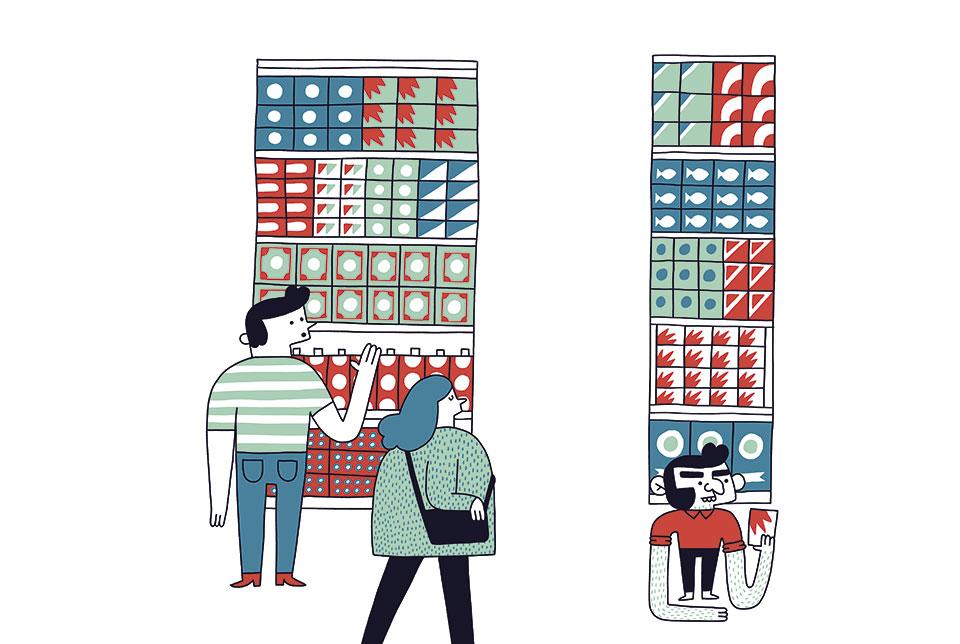 revista graffica 9 report tendencias del packaging ilustracion