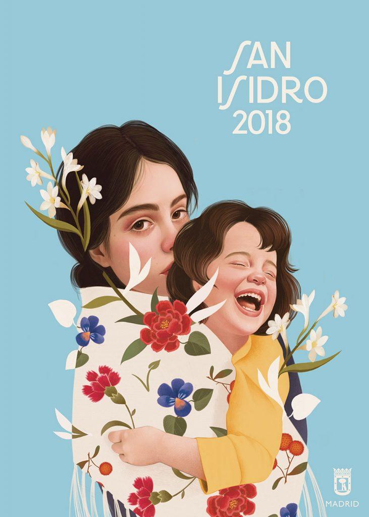 San Isidro 2018 madre nino azul