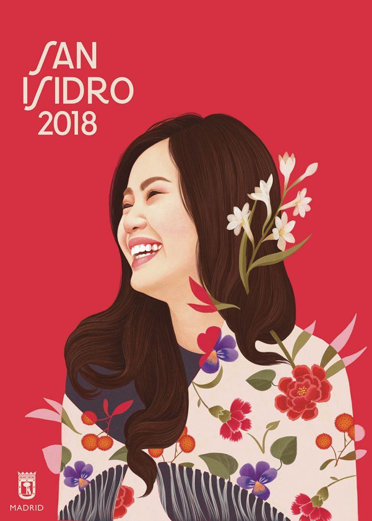 San Isidro 2018 chica oriente rojo