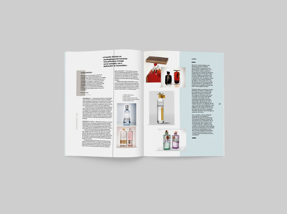 revista graffica 9 SeriesNemo mockup botellas