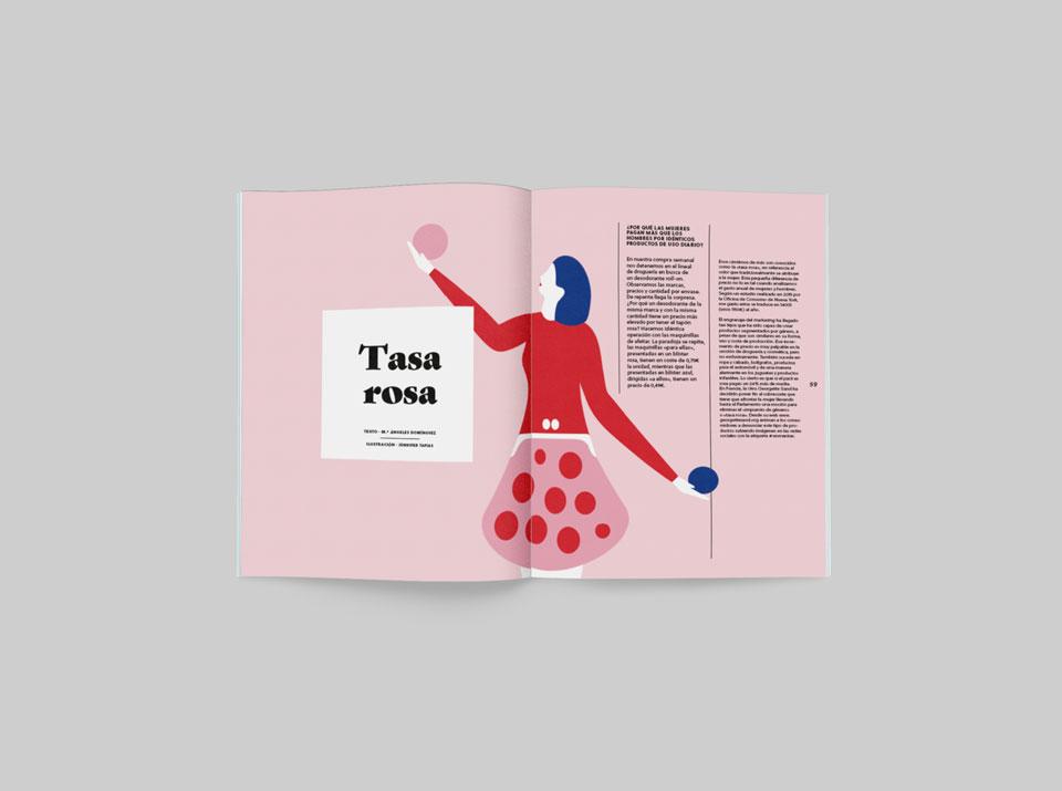 tasa rosa revista graffica 9 packaging mockup primero
