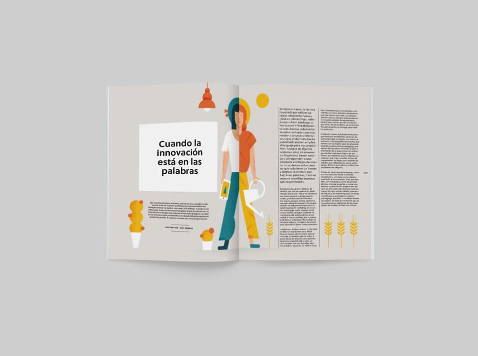 revista graffica 9 innovacion palabras mockup doble