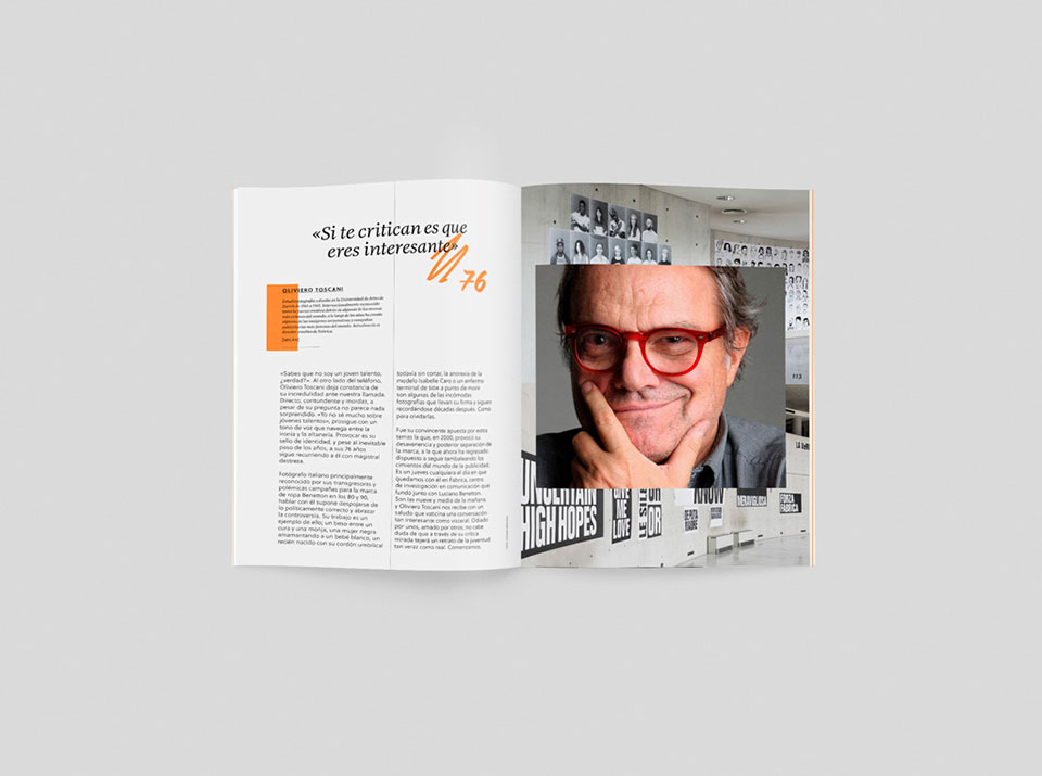 revista graffica 10 forever young Oliviero Toscani