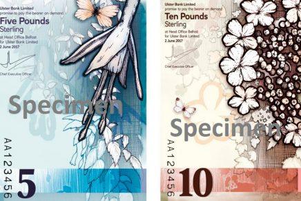Así es el diseño de los nuevos billetes verticales de Irlanda del Norte