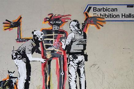 Uno de los últimos graffitis de Banksy en 'Beyond the Streets'