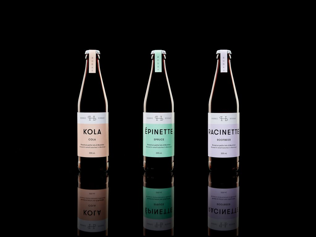 packaging de refresco henri