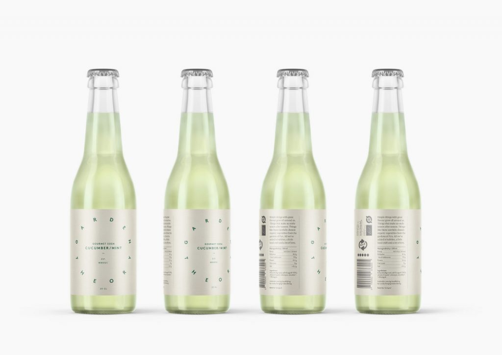 packaging de refresco garden