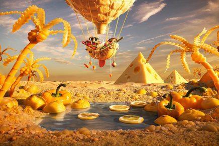 Carl Warner crea mundos comestibles con ingredientes cotidianos