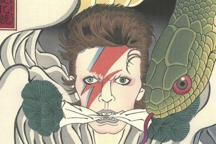 Dos icónicas fotos de David Bowie transformadas en grabados japoneses