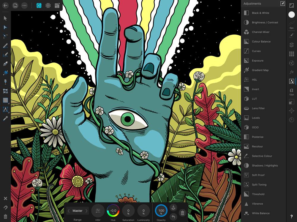 Lo nuevo de Affinity: Affinity Designer para iPad