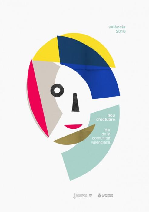 Cartel de 9 d'Octubre para provincia de Valencia