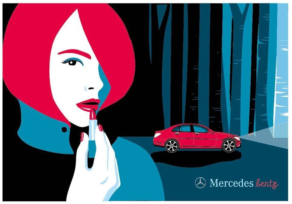 En Instagram, la ilustradora hace una llamada a Mercedes para que los autos sean más 'Bentz' que 'Benz'