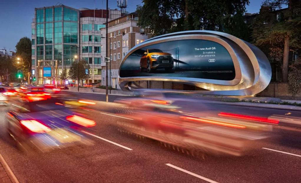 Así es la valla publicitaria diseñada por Zaha Hadid Architects en Londres