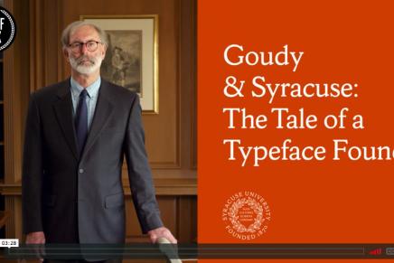 'Goudy & Syracuse', el cuento de una tipografía encontrada