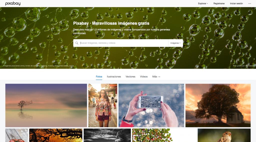 Pixabay bancos de imágenes gratis